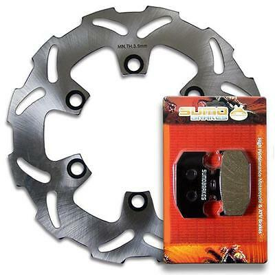 Kawasaki Rear Rotor Disc + Brake Pads KDX 200 (1995-2006) 220 (97-05) 250(91-94)