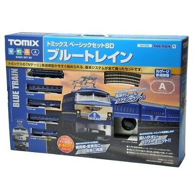 NEW Tomix 90159 Electric Locomotive Type EF66 Blue Train Starter Set (N scale)