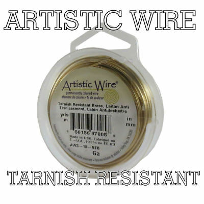 Artistic Wire Tarnish Resistant  BRASS Craft Wire from 10 to 30 ga