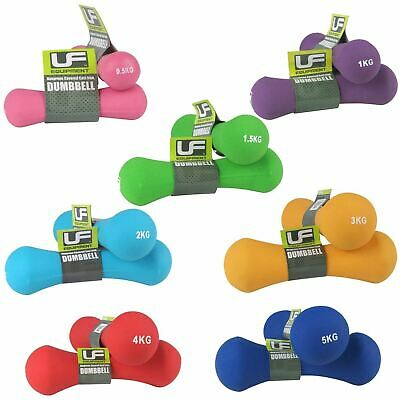UFE 2x Bone Dumbbell Weight Lifting Neoprene Aerobic Gym Free Weights 0.5-5kg