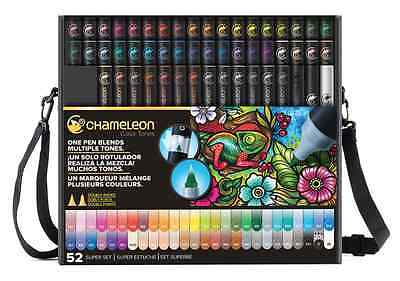 NEW Chameleon Color Color Tones Pens Markers 52 pc Super Set CT5201 BONUS