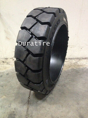 18x6x12 1/8, 18x6x12-1/8, Solid Press On Forklift Tire, Traction, (2 Tires)