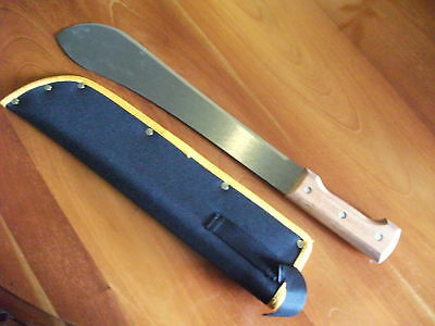 "TRAMONTINA 14"" BOLO STYLE CARBON  MACHETE with SHEAF"