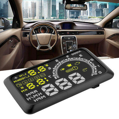 W02 LCD Auto HUD Head Up Display-Schnittstelle OBD2 Stecker / Play-Speed SystemQ