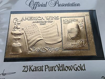 1987 America's Cup Winner Gold Stamp