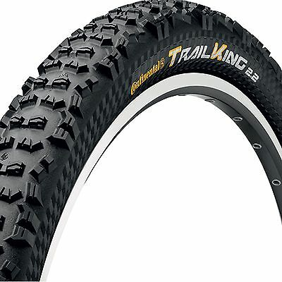 """Continental Trail King Tyre - 26"""" x 2.4"""" - Folding Bead- Black Chili- Protection"""