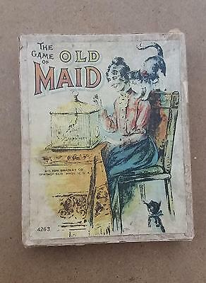 Antique Old Maid card game Milton Bradley