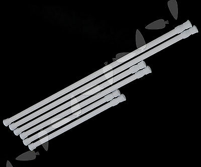 2 X Spring Loaded Extendable Telescopic Voile Tension Curtain Rail Pole Rod