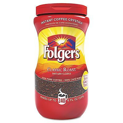 Folgers 06922 Instant Coffee Crystals Classic Roast 16oz Jar