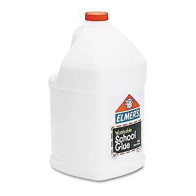 Elmer's E340 Washable School Glue  1 gal  Liquid