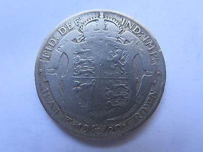 1920 GREAT BRITAIN SILVER HALF CROWN KING GEORGE V in FAIR COLLECTABLE CONDITION