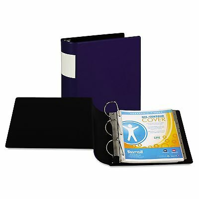 "Samsill 17692 DXL Heavy-Duty Locking D-Ring Binder With Label Holder  4"" Cap"
