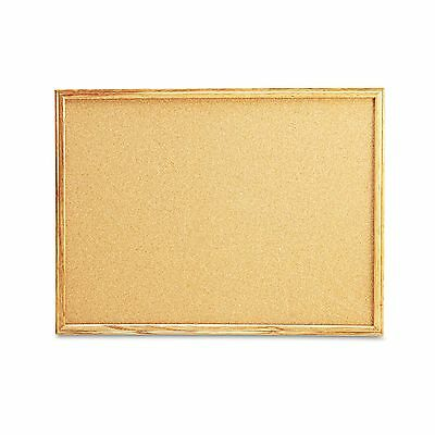 Universal 43602 Cork Board with Oak Style Frame  24 x 18  Natural  Oak-Finished