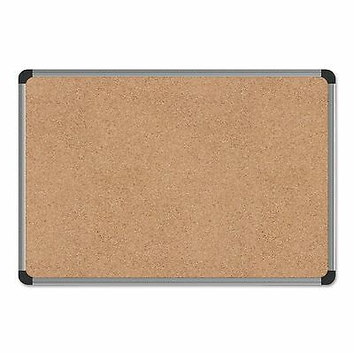 Universal 43712 Cork Board with Aluminum Frame  24 x 18  Natural  Silver Frame