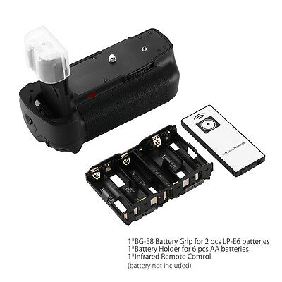 BG-E6 Battery Grip for Canon BGE6 EOS 5D Mark II 5D2 5DII LP-E6 + IR Remote US