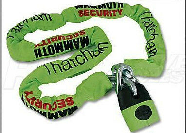 Mammoth Security Motorcycle/Bike Thatcham Approved Lock And Chain 1.8m