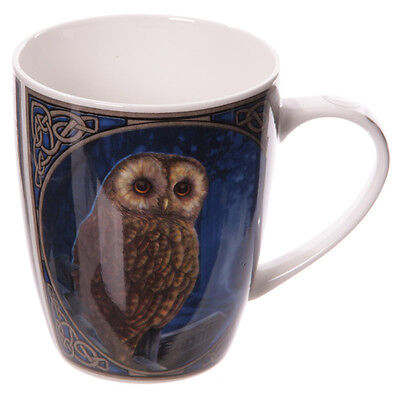 "Lisa Parker Gothic Wicca Owl ""Way Of The Witch"" Bone China Mug Cup"