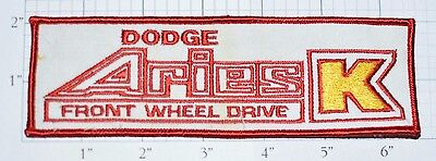 Dodge Aries K Car FWD Vintage Embroidered Sew-on Automobile Patch Collectible