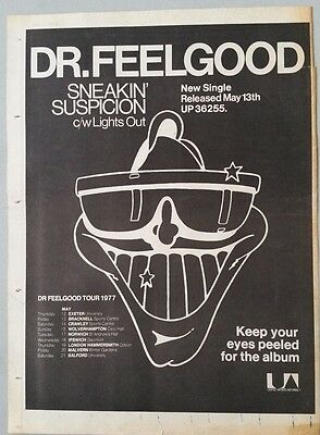 DR FEELGOOD SNEAKIN SUSPICION ORIG 1977 RM MAGAZINE Advert Poster Size #@