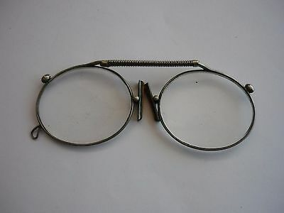 1930s ADJUSTABLE PINCE NEZ CLIP ON SPECTACLES IN ORIGINAL CASE