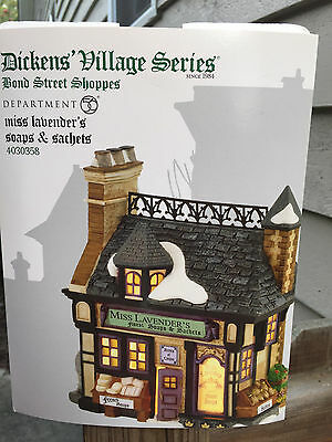 DEPT 56 DICKENS' VILLAGE MISS LAVENDER'S SOAPS & AND SACHETS *Excellent Display*