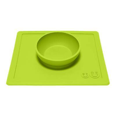 ezpz Happy Bowl Baby Toddler Kids Feeding Silicone Placemat Dinnerware - Lime
