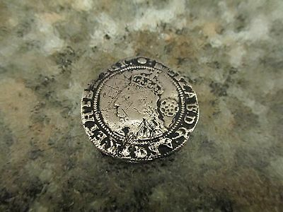 Hammered Silver Sixpence Coin Elizabeth 1st 1591.