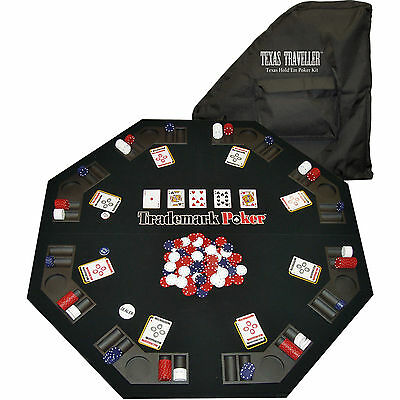 Trademark Global Table Top Texas Traveler 300 Chip Set Foldable W/ Carrying Case