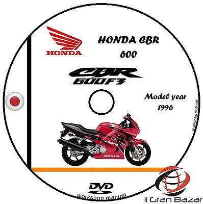 Manuale Officina Honda Cbr 600 F3 My 1995-1996 Worshop Manual Service Cd Dvd