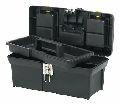 STANLEY 016013R 16-Inch Series 2000 Tool Box with Tray, Black/Yellow