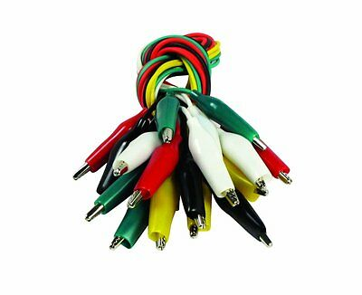 SE TL10 10-Piece Test Leads with Alligator Clips, Length: 19-1/2-Inch, 22 Gauge