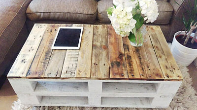 "Pallet Coffee Table ""LEMMIK"" Farmhouse Style, Rustic, Shabby Chic, Solid Wood"
