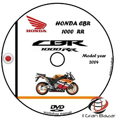 Manuale Officina Honda Cbr 1000Rr My 2004 Workshop Manual Service Cd Dvd