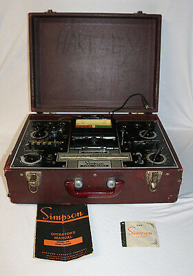 Simpson Tube Tester Model 555 Power Tested Vintage Radio Collectable  Untested