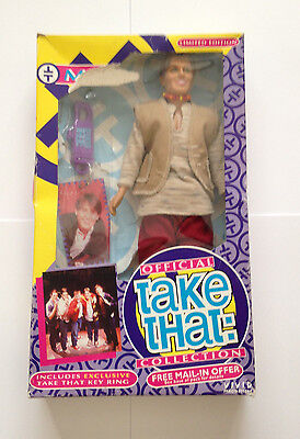 Official Take That Collection Mark Owen Doll Figure 1990's Vivid See Pics