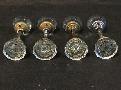 4 Pairs of Small Antique Glass Door Knobs - Refurbished!