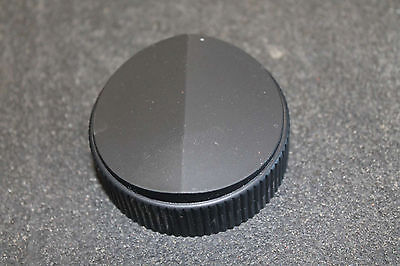 "Raytheon black control knob 2-1/4"" dia 3/8"" shaft"