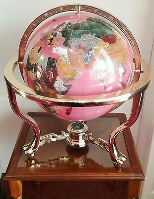 "Gemstone World 13"" Globe ornament : Special Pink Limited Edition item"