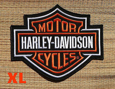 Harley Davidson Classic Orange Logo Sew-on Patch (XL)