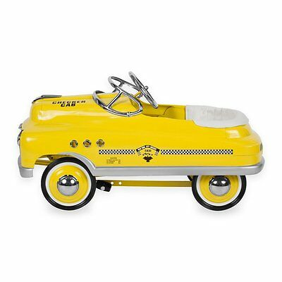 Yellow Taxi Comet Air Flow Pedal Car Classic Style Kids Pedal Car