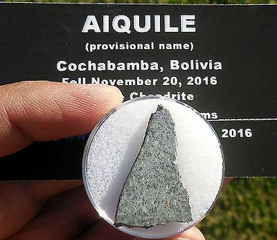 "1st on eBay!  3.25g  ""Aiquile"" Meteorite slice from Nov 20, 2016 fall in Bolivia"