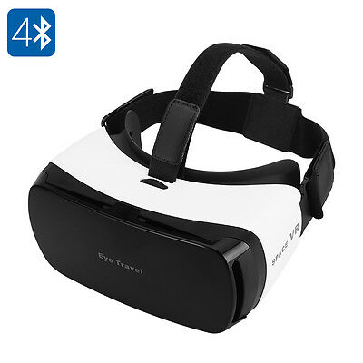 Virtual Reality 3D Glasses - For 3.5 To 5.5 Inch Smartphones, 110 FOV, Bluetooth