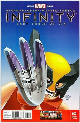 Infinity #3 1:25 Castellani Wolverine Lego Variant First Print Marvel Comics Nm