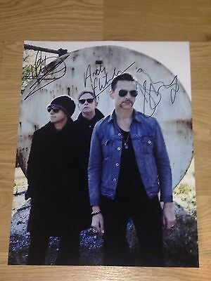 Authentic Signed Depeche Mode Huge 16 X 12 Photo.. Gahan ..real Signatures...coa