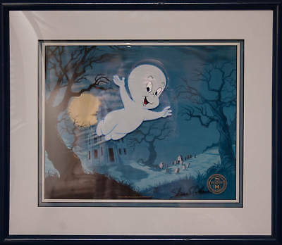 Casper The Friendly Ghost cel rare framed in a 3D look Signed Shamus Culhanewith