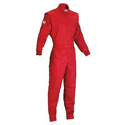 OMP Summer Cotton / Polyester Childs Overalls Red - Childs Size 130cm