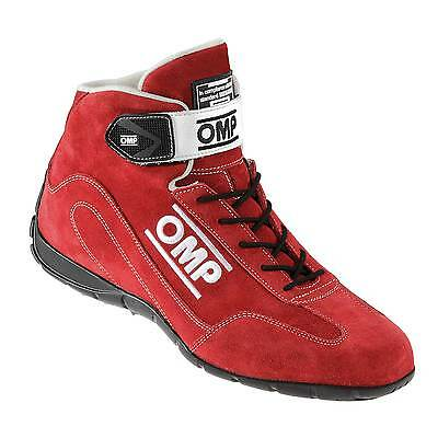 OMP Mechanics / Co Driver FIA Approved Fireproof Boots Red - UK 10.5 / Eur 45