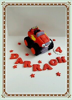 Edible Blaze and the monster machines cake topper,cars cartoon,Sugar decorations