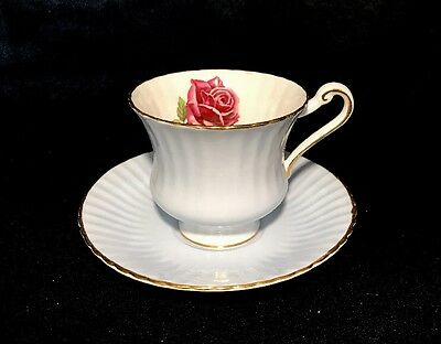 Paragon Baby Blue Tea Cup Set With Rose Flower Bone China Made In England