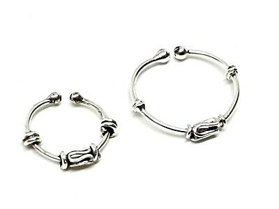 Fake Sterling Silver Nose Ring Ear Cartilage Bali Style Tragus Earring Septum